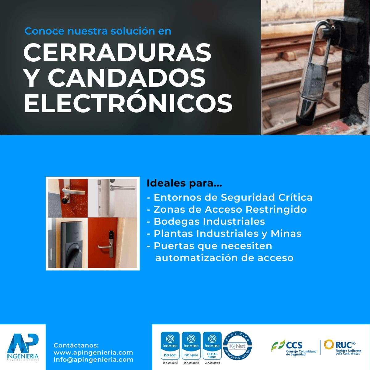 Cerraduras y Candados Electrónicos | AP Ingeniería