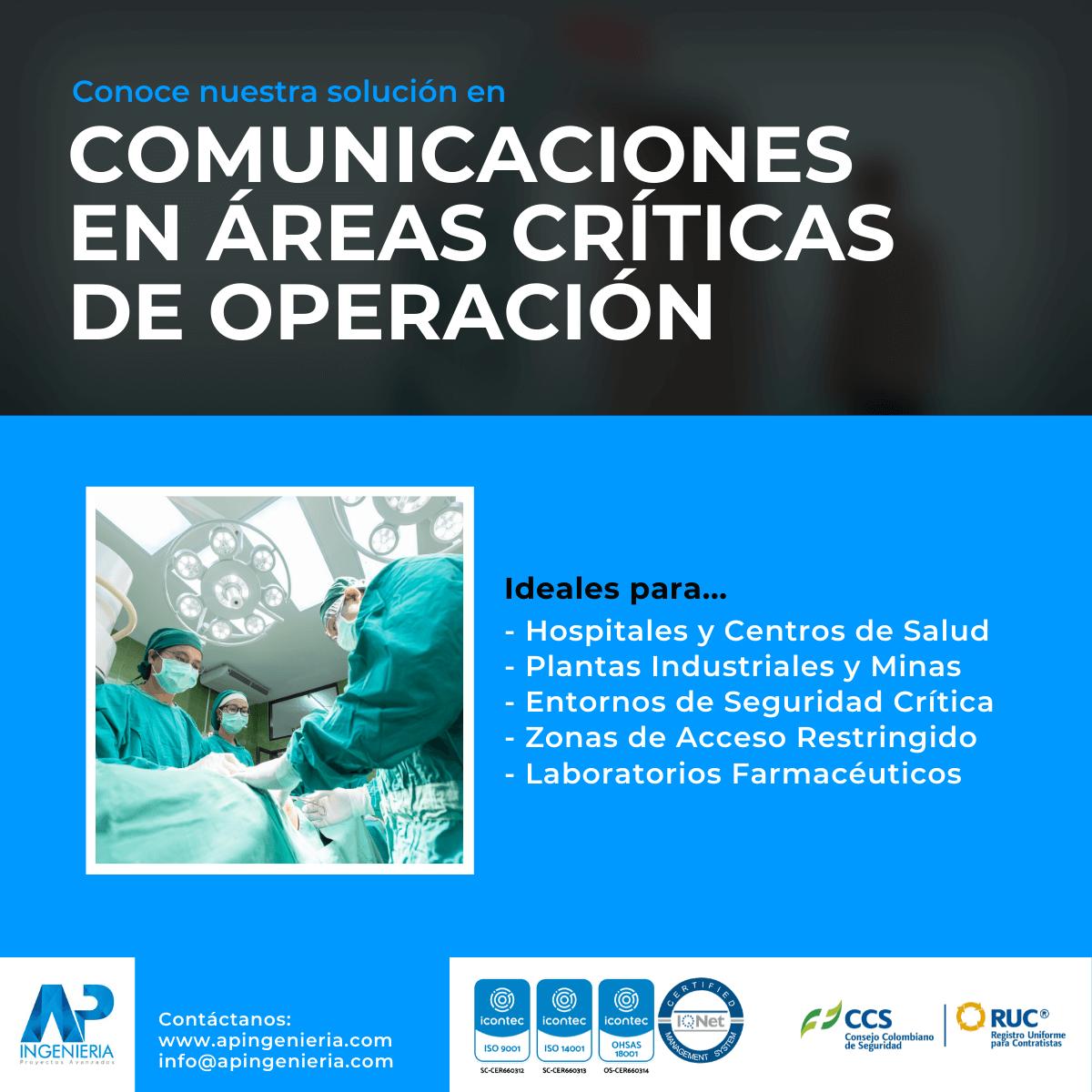 Comunicación en Áreas Críticas de Operación | AP Ingeniería