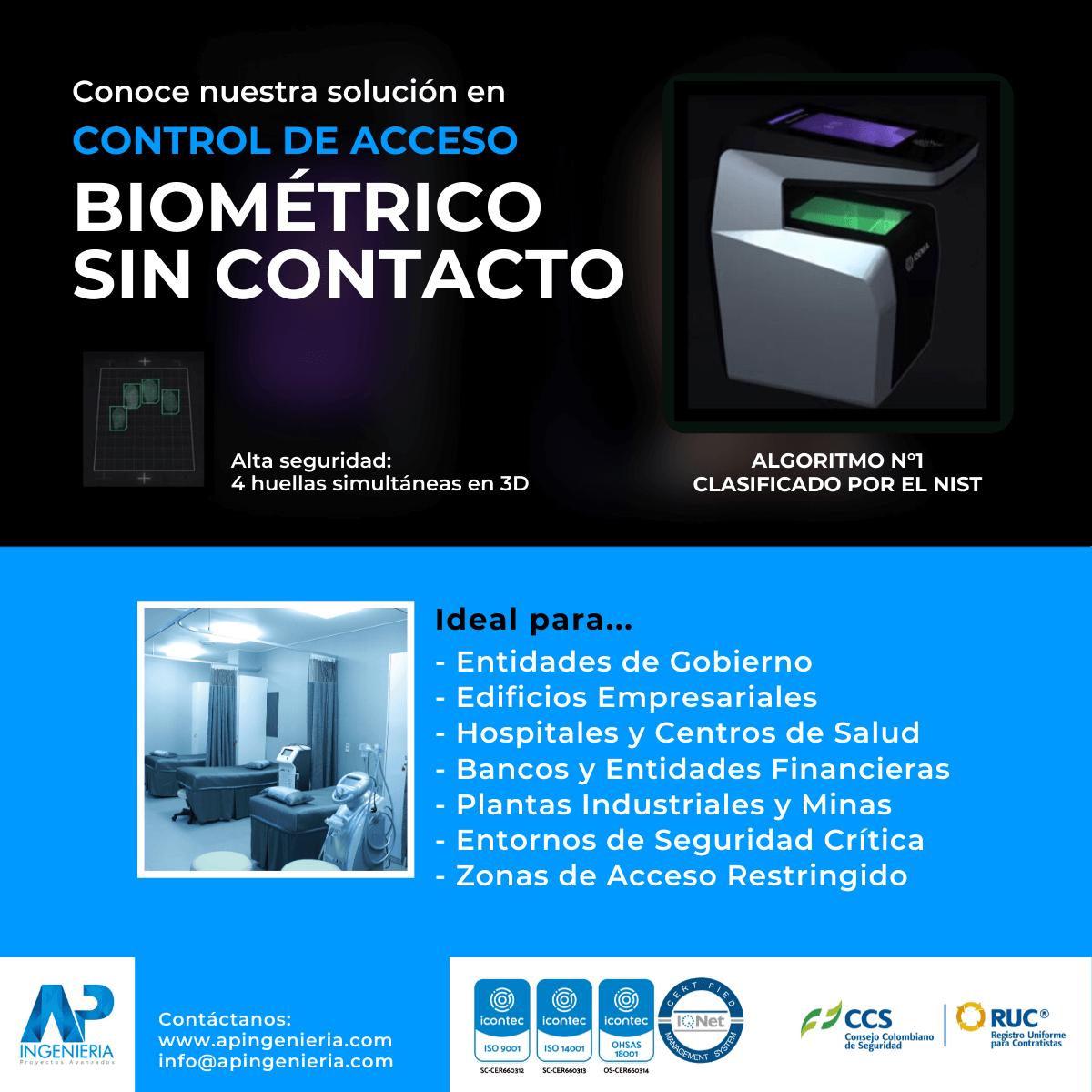 Control de Acceso Biométrico sin Contacto | AP Ingeniería