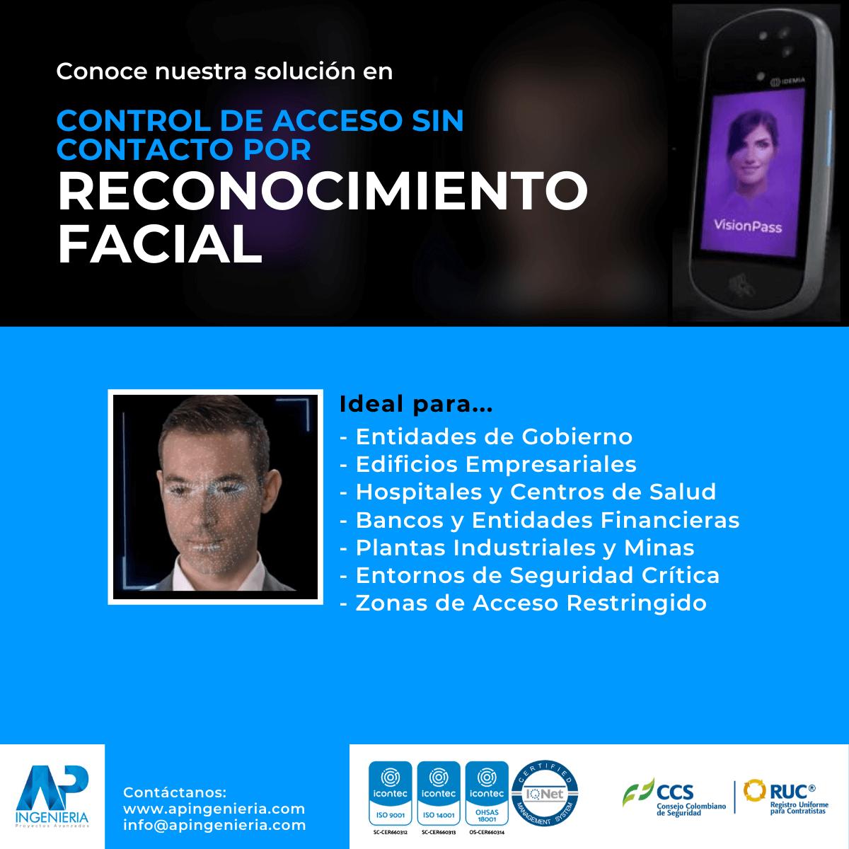 Control de Acceso sin Contacto por Reconocimiento Facial | AP Ingeniería