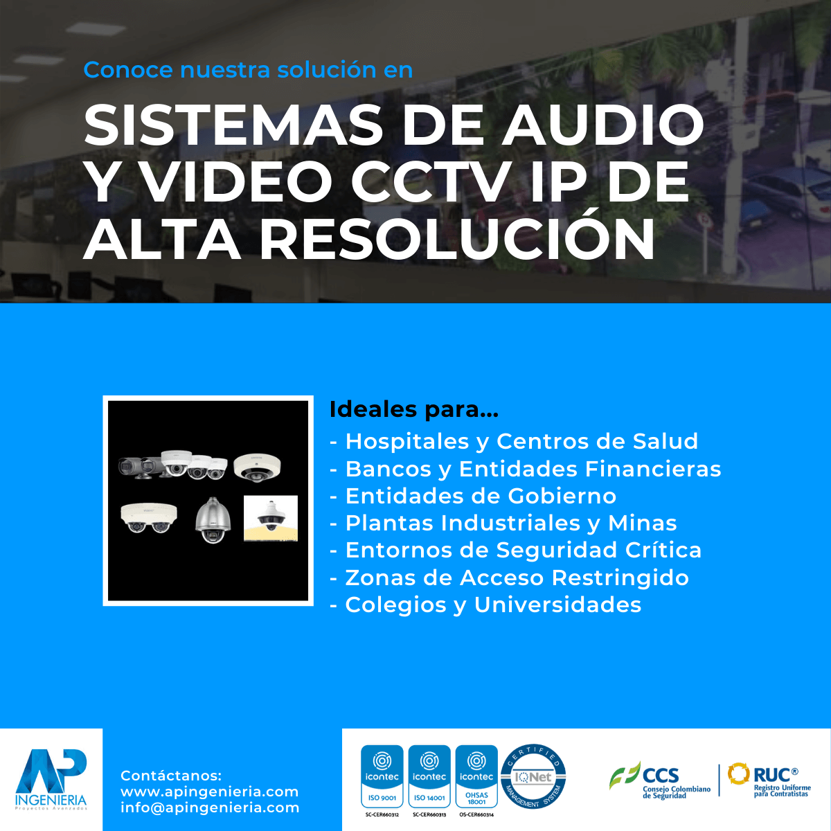 Sistemas de Video CCTV IP de Alta Resolución | AP Ingeniería